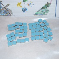 Light Blue Mosaic Tiles