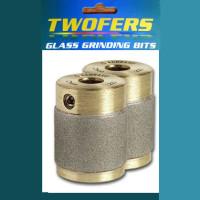 """Aanraku Twofers - 1"""" Grinder Bits - FINE 220 Grit // INCLUDES 2 BITS // fits most grinders"""