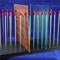 Morton Glass Caddy - Glass Sheets Holder Storage (up to 45 square sheets of glass)