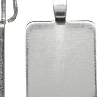 Aanraku - LARGE 1.25 x 1.5 inch - Steel Pendant PlatesAanraku - LARGE 1.25 x 1.5 inch - Steel Pendant Plates