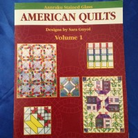 Stained Glass Aanraku -AMERICAN QUILTS 2 PATTERN BOOK - Super exciting stained glass pattern book from Aanraku. 28 pages of designs - GlassSupplies41.com
