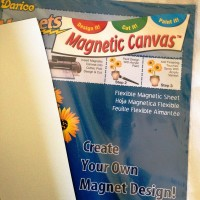 9 x 12 inch MAGNET Sheet - Flexible & Printable - Cut to Any Size - Spray with Acrylic Sealer! Canvas accepts acrylic paints and stencil pens! - Glass