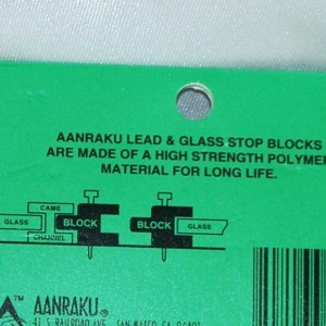 Aanraku - Lead & Glass Stop Blocks - 25 Pack
