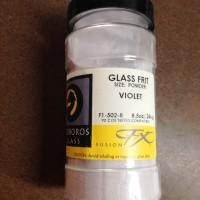 8.5 oz - Uroboros COE 90 Glass Fusing Frit {{Violet}} Grit Size: POWDER