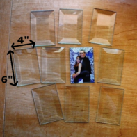 """4"""" x 6"""" Clear Bevel Rectangle (4 inch x 6 inch) - GlassSupplies41.com"""