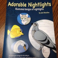 Stained Glass Pattern Book - Adorable Nightlights - Illustrated Designs of Night - Create 24 amazingly adorable nightlights - Each pattern has a color key to help with glass selection.
