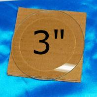 "3"" Clear Bevel Circles (3 inch) - GlassSupplies41.com"