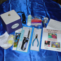 Stained Glass Beginner Kit – Gryphon GRINDER, Iron, Solder, Tools, plus Instructions