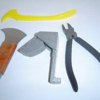LEAD Working Tool Kit - 4 Piece - Lead Knife, Dykes, Fid, Lead Stretcher