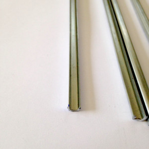 """1/8 U Zinc Came Channel - 12 Inch Pieces - 5/32"""" channel - 1/8"""" depth - Add strength and a smooth sleek finish to your stained glass panel borders - GlassSupplies41"""