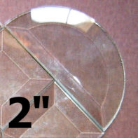 10 Pack - 2″ Clear Bevel Half Circle (2 inch)