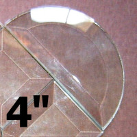 10 Pack - 4″ Clear Bevel Half Circle (4 inch)