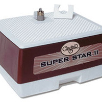 """Glastar G-12 Grinder  ~*~ Superstar II  INCLUDES:  1/4"""" Diamond Grinder Bit  3/4"""" Diamond Grinder Bit  8"""" x 9"""" work surface  5 year warranty!  The perfect grinder for the artist or hobbyist. The Super Star II is equipped with a powerful motor that eliminates the frustration of working with glass by refusing to slow down when grinding. The strength of the motor combined with our permanently bonded grinding head team up to help glass artists create their work accurately and efficiently. Powerful 1/12 HP, 3450 RPM motor. 19 Inch-ounces breakdown torque. 115Volt Permanently """"bonded"""" diamond grinding surface Roller-type adjustable straight edge guide. Convenient coolant drain. Flexible rubber splash guard. Exclusive built-in accessory drawer.   MODEL   SUPER STAR II  G12      VOLTAGE   115V      FREQUENCY   60 hz      FULL LOAD CURRENT   1.3A              Click here to see my other items, ranked by popularity!"""