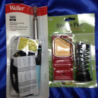 Soldering Tool Combo- Weller - W100PG Soldering Iron 100 Watt , plus a Heavy Iron Stand