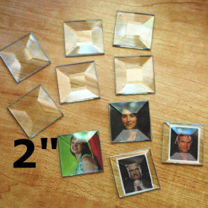 """2 Inch (2"""") clear beveled glass squares from Glasssupplies41"""