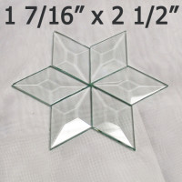"1 7/16"" x 2 1/2 Clear Bevel Diamond (1.44 inch x 2.5 inch)"