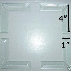 """45° MITERED CORNER Bevel Set 1"""" x 4"""" (1 x 4 inch)"""