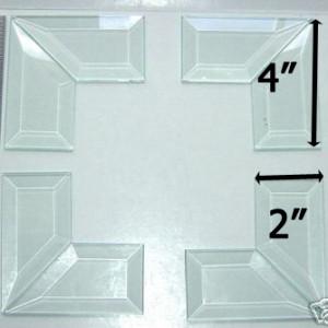 """45° MITERED CORNER Bevel Set 2"""" x 4"""" (2 x 4 inch)"""