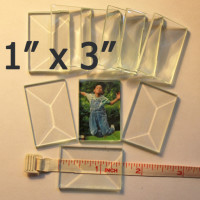 "1"" x 3"" Clear Bevel Rectangle (1 inch x 3 inch)"