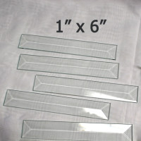 "1"" x 6"" Clear Bevel Rectangle (1 inch x 6 inch)"