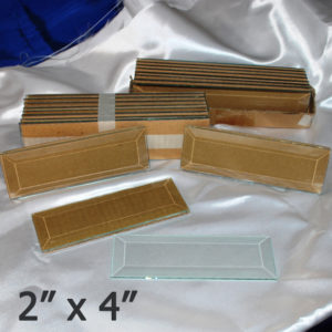 """2"""" x 4"""" Clear Bevel Rectangle (2 inch x 4 inch)"""
