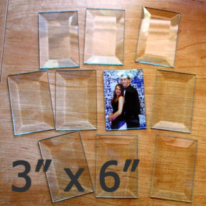 "bevel rectangle 3"" x 6"" (3 x 6 inch)"