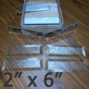 "2"" x 6"" Glue Chip Bevel Rectangle (2 inch x 6 inch)"