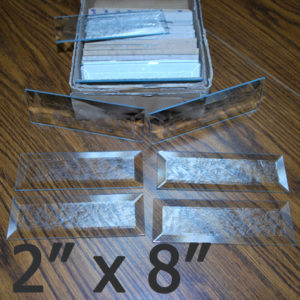 "2"" x 8"" Glue Chip Bevel Rectangle (2 inch x 8 inch)"