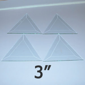 """3"""" Clear Bevel Triangle (3 inch)"""