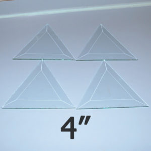 """4"""" Clear Bevel Triangle (4 inch)"""