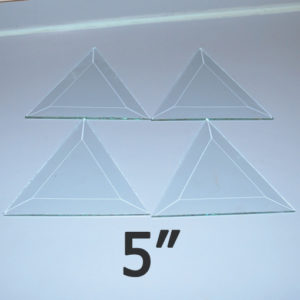 """5"""" Clear Bevel Triangle (5 inch)"""