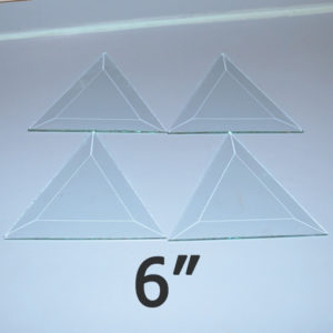 """6"""" Clear Bevel Triangle (6 inch)"""