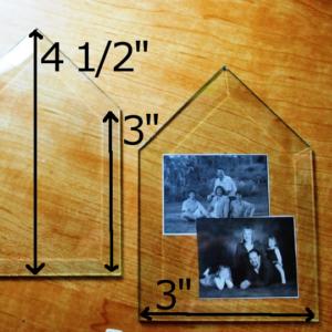 "3"" x 3"" x 4 1/2"" Clear Bevel House (3 x 3 x 4.5 inch) - GlassSupplies41.com"