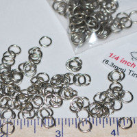 "Jump Rings - 1/4"" (.25 Inch)"