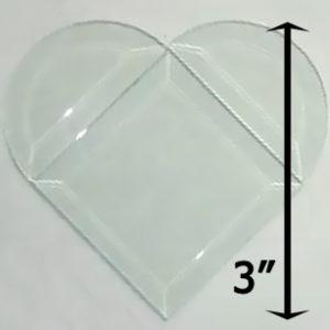 "Project Kit: 3"" Beveled Heart"