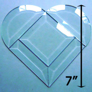 "Project Kit: 7"" Multi Beveled Heart (3"" square center)"
