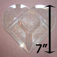 "Project Kit: 7"" Multi Beveled Heart (2"" square center)"