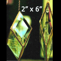 "Project Kit: MEDIUM Hanging Prism - (5) 2"" x 6"" Clear Glass Diamond Bevels"