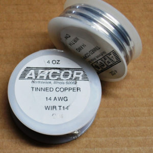 4 oz Tinned Copper Wire (silver color) 14 Gauge 20 ft roll