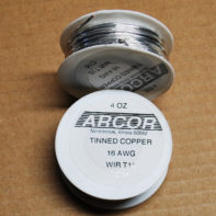 4 oz Tinned Copper Wire (silver color) 16 Gauge 32 ft roll
