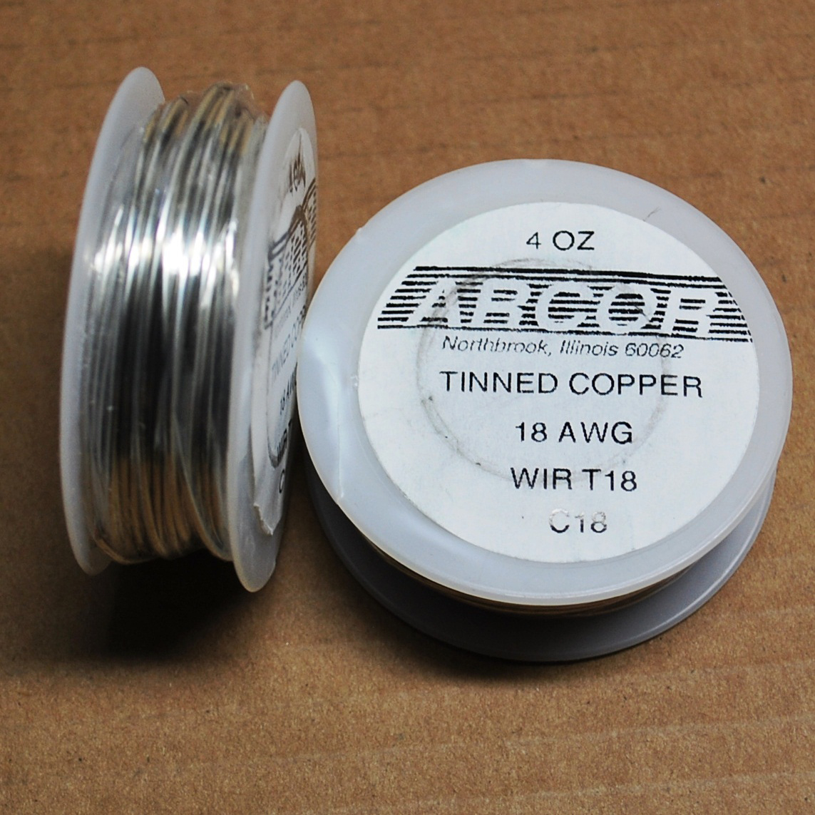 4 oz Tinned Copper Wire (silver color) 18 Gauge 50 ft roll - Glass ...