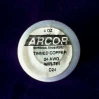 4 oz Tinned Copper Wire (silver color) 24 Gauge 198 ft roll