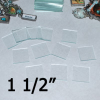 "1 1/2"" Square Clear Flat Glass (1.5 inch)"