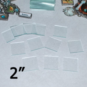 """2"""" Square Clear Flat Glass (2 inch)"""