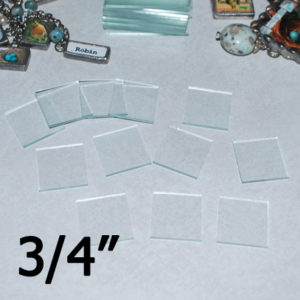 """3/4"""" Square Clear Flat Glass (.75 inch)"""