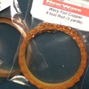 WAVY / SCALLOPED Edge Copper Foil Tape - 3 yards - Venture Tape