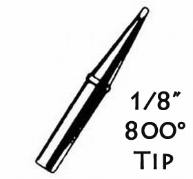 """Weller 800 degree tip WP100 1/8"""" tip"""