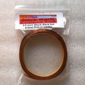 "1/2"" Copper Foil Tape BLACK BACK - 3 yards - Venture Tape"
