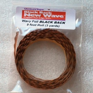WAVY / SCALLOPED Edge Copper Foil Tape BLACK BACK - 3 yards - Venture Tape