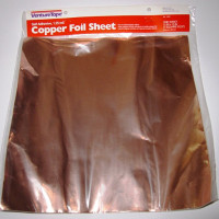 "Copper Foil SHEET - 12""x12"" - Adhesive Backed - Venture Tape"